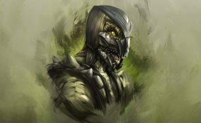 Reptile, mortal kombat, video game, art
