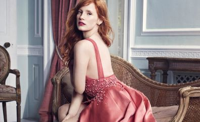 Pink Dress, lovely actress, Jessica Chastain
