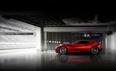 Icona vulcano hybrid car side view