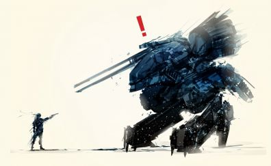 Metal gear rex, solid snake from Metal Gear video game