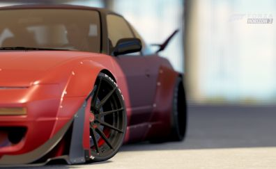 Nissan 240sx car in forza horizon 3 video game