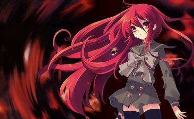 Shana, red head, Shakugan no Shana, anime girl, sword