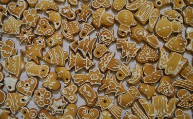 Christmas cakes, food, cookies