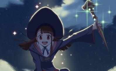 Happy anime girl, Atsuko Kagari