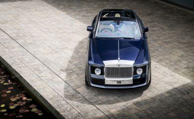 Blue 2017 Rolls-Royce Sweptail, luxury car