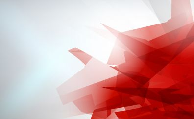 Red, abstract, low poly art