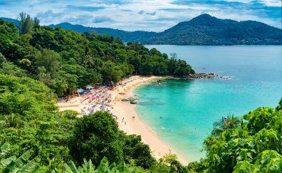 Thailand, Tropical beach, nature, summer