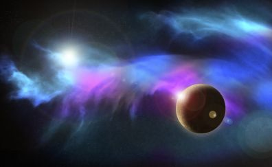 Cosmos, fantasy, planet, space