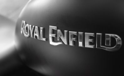 Bike, bullet, royal enfield, monochrome, logo
