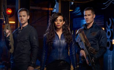 Killjoys TV series, Hannah John-Kamenm, Aaron Ashmore, Luke Macfarlane, casts