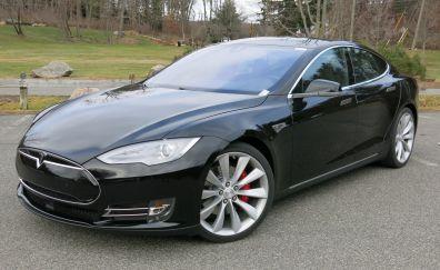 2015 Tesla Model S P85D, sports car, side view