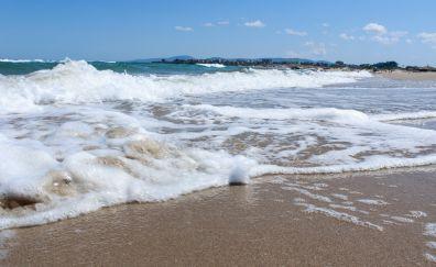 Primorsko beach, summer, sea waves