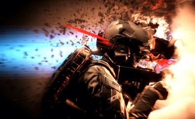 Battlefield 4, video game, solider, hunt