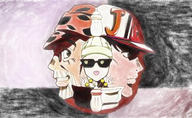 Joseph, joestar, jotaro, kujo, anime, anime artwork