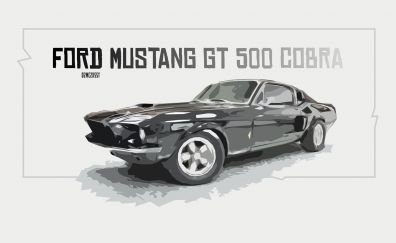 Ford Mustang Shelby GT 500 car, art