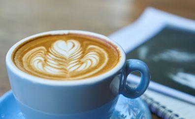 Coffee cup, coffee, brown