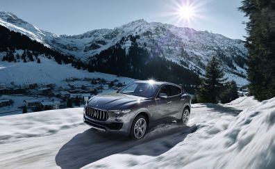 2016 Maserati Levante Silver car