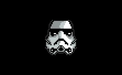 Stormtrooper, star wars, pixel artwork