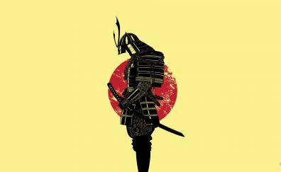 Black samurai warrior
