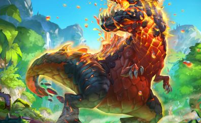 Fire, Dinosaur, Hearthstone: Heroes of Warcraft, video game