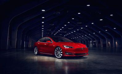 Tesla Model S P90D, electric car