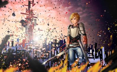 Anime boy, sword, Jaune Arc, RWBY