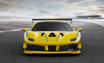 Ferrari 488 Challenge 2017 yellow car