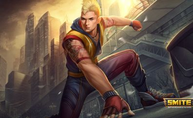 Mercury, smite online game, blonde