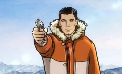 Archer TV show, animation, gun
