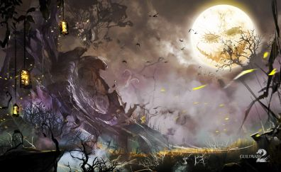 Guild wars 2 video game, scary night