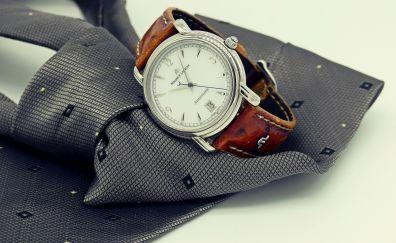 Wrist watch, clock, tie