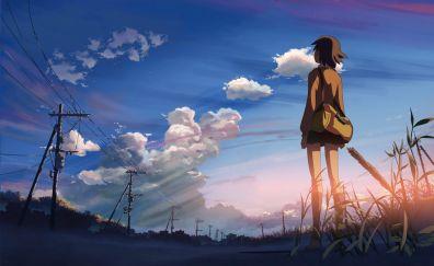 Makoto shinkai from 5 centimeters per second anime movie