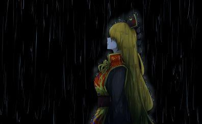 Blonde hair, rain, Junko, Touhou