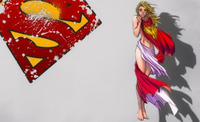 Hot super girl, artwork