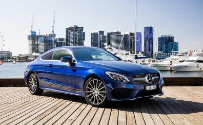Mercedes-Benz C-Class blue luxury car