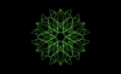 Mandala, abstract, colorful, pattern, green
