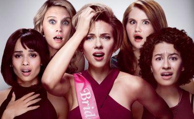 Rough Night, movie, Scarlett Johansson, Kate McKinnon, celebrities, 2017