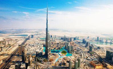 Burj Khalifa aka Burj Dubai aerial view