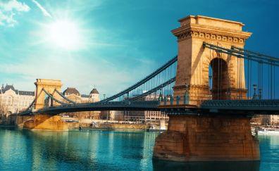 Chain Bridge, river, architecture