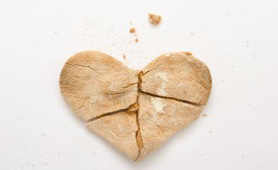 Broken Cookie, heart, baking