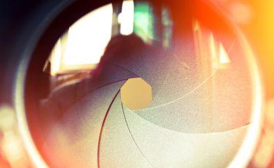Lens, camera shutter