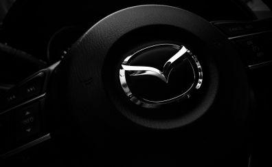 Mazda steering wheel logo