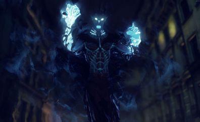 Shadow Realms video game, ghost, dark blue