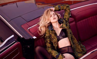 Teresa Palmer, photoshoot, car