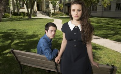 Clay and Hannah, 13 reasons why, TV show, bench
