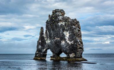 Arch, rocks, sea, nature