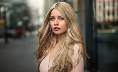 Karina, model, blonde