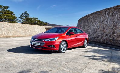 Chevrolet Cruze, red car, front view