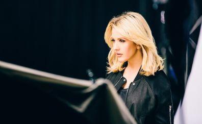 Blonde singer, Ellie Goulding, beautiful