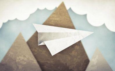 Paper airplane art